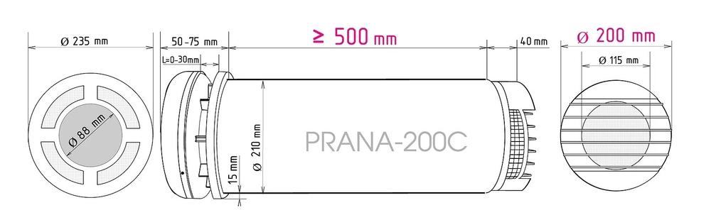 Ventilatsiooniseade-Prana-200C-suurus